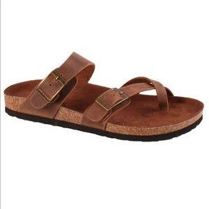 Mountain Sole brown Gracie slide sandals